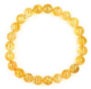 Citrine Bead Bracelet for Solar Plexus Chakra Healing