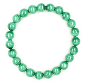 Malachite Bead Bracelet for Heart Chakra Healing